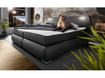 Inosign Boxspringbett »Black & White«, schwarz