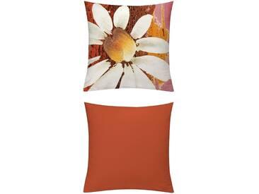 Emotion Textiles Kissenhüllen »Magarite«, orange, blickdichter Stoff