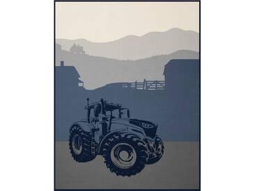 Biederlack Wohndecke »Traktor«, 150x200 cm, blau