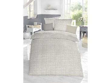 Schlafgut Bettwäsche »Cotton«, 155x220 cm, Hpflegeleicht, grau, aus 100% Baumwolle