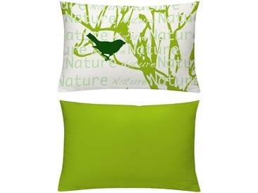 Emotion Textiles Kissenhüllen »Nature«, grün, blickdichter Stoff
