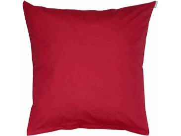 Bassetti Kissenhülle »Tinta Uni«, 40x80, aus 100% Baumwolle, rot