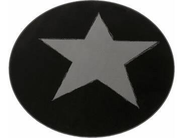 Hanse Home Teppich »Stern«, 9 (Ø 140 cm), 9 mm Gesamthöhe, schwarz