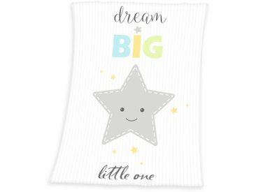 Herding Babydecke »Dream Big Star«, 75x100 cm, weiß