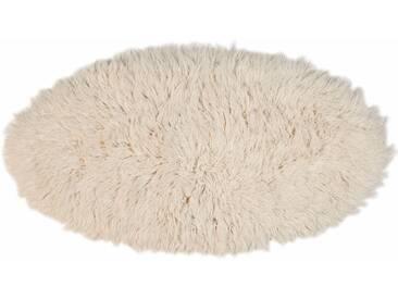 Theko Exklusiv Hochflorteppich »Flokos 2«, 70x140 cm, 60 mm Gesamthöhe, beige