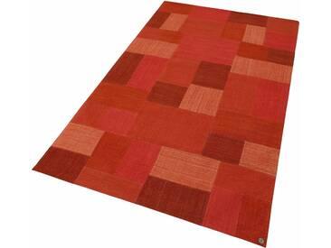 Tom Tailor Teppich »Patch Denim«, 65x135 cm, 5 mm Gesamthöhe (ca.), rot