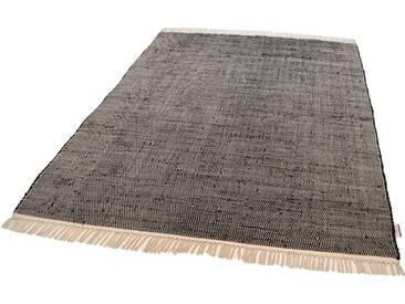 Tom Tailor Teppich »Cotton Colors«, 80x150 cm, beidseitig verwendbar, 8 mm Gesamthöhe, schwarz