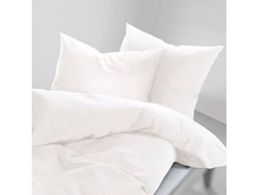 Schlafgut Bettwäsche »Lenny«, 155x220 cm, Hpflegeleicht, weiß, aus 100% Baumwolle