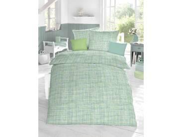 Schlafgut Bettwäsche »Cotton«, 135x200 cm, Hpflegeleicht, grün, aus 100% Baumwolle