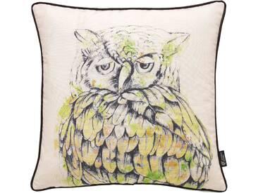 Emotion Textiles Kissenbezug »Eule«, grün