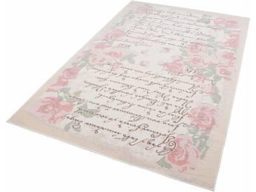 Theko® Teppich »Flomi Paris«, 160x230 cm, 4 mm Gesamthöhe, rosa