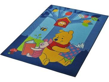 Winnie The Pooh Kinderteppich »Winnie Puuh - Bücher«, 95x133 cm, 7 mm Gesamthöhe, gelb