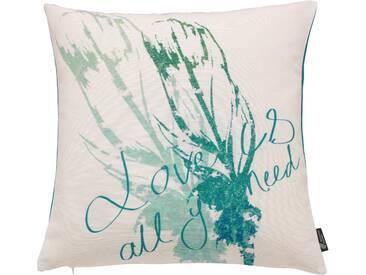 Emotion Textiles Kissenhülle »Feather«, grün