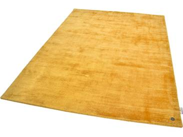 Tom Tailor Teppich »Shine uni«, 85x155 cm, 8 mm Gesamthöhe, gold
