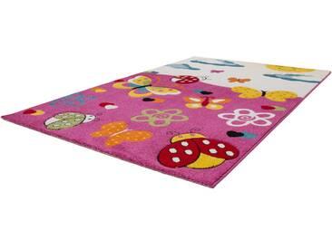 Lalee Kinderteppich »Amigo 314«, 120x170 cm, 15 mm Gesamthöhe, rosa