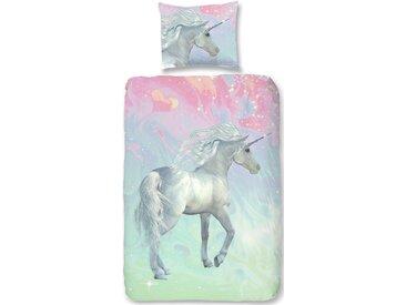 Good Morning Kinderbettwäsche »Unicorn«, 135x200 cm, trocknergeeignet, bunt, aus reiner Baumwolle