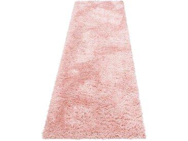 My Home Hochflor-Läufer »Boldo«, 67x230 cm, rosa