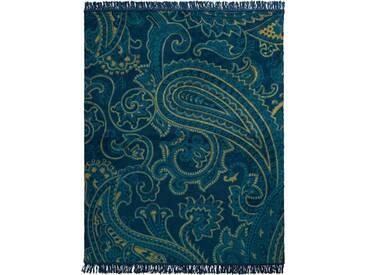 Biederlack Wohndecke »Dark Paisley«, 150x200 cm, blau