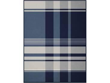 Biederlack Wohndecke »Winter Check«, 150x200 cm, blau