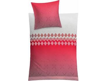 Kleine Wolke Bettwäsche »Rombo«, 155x220 cm, pflegeleicht, trocknergeeignet, rot