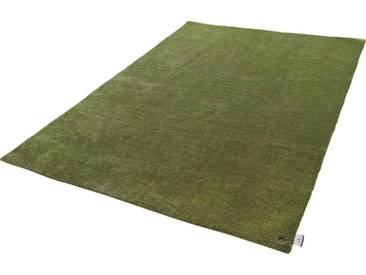 Tom Tailor Teppich »Powder uni«, 140x200 cm, 12 mm Gesamthöhe, grün