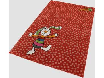 Sigikid Kinder-Teppich »Rainbow Rabbit«, 80x150 cm, fußbodenheizungsgeeignet, rot