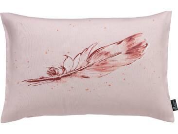 Emotion Textiles Kissenhülle  »Tempera Feder«, rosa