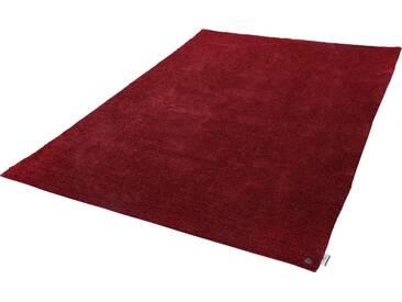 Tom Tailor Teppich »Powder uni«, 50x80 cm, 12 mm Gesamthöhe, rot