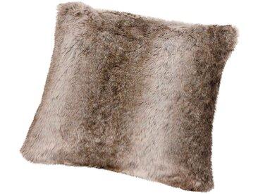 Gözze Fellkissen »Kodiakbär Felloptik«, 50x50 cm, braun
