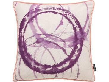 Emotion Textiles Kissenhülle »Aquarellkreise«, lila