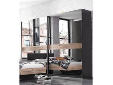 Inosign Schwebetürenschrank, Breite 270 cm, 2-türig, grau, mit Spiegel