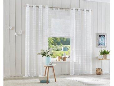 My Home Raffrollo »Assen«, H/B 140/100 cm, weiß, transparenter Stoff