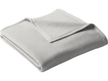 Biederlack Wohndecke »Uno Cotton«, 180x220 cm, grau
