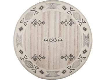 Theko® Teppich »Royal Berber«, 10 (Ø 150 cm), 18 mm Gesamthöhe, beige