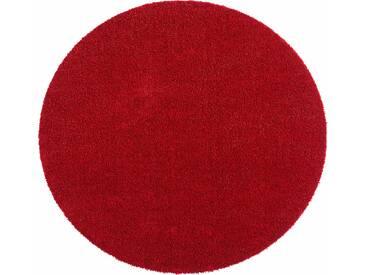 Hanse Home Teppich »Deko Soft«, 9 (Ø 75 cm), 7 mm Gesamthöhe, rot