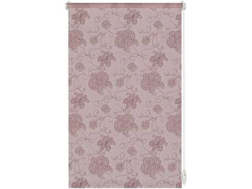 Gardinia Seitenzugrollo »Stickerei«, H/B 150/120 cm, einfache Montage ohne Bohren, rosa