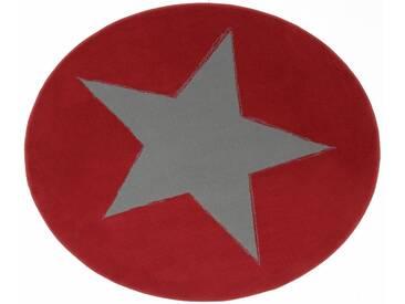 Hanse Home Teppich »Stern«, 9 (Ø 140 cm), 9 mm Gesamthöhe, rot