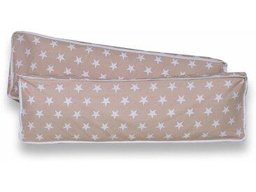 Ticaa Rückenkissen-Set, 2-teilig, beige