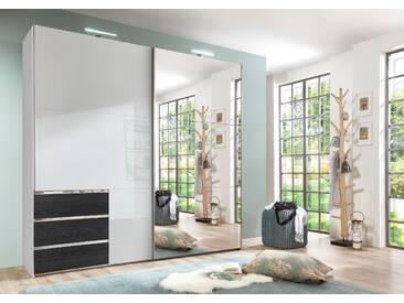 Bruno Banani Schwebetürenschrank, pflegeleichte Kunststoffoberfläche, Breite 250 cm, weiß