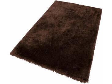 Theko® Hochflor-Teppich »Flokato«, 60x90 cm, fussbodenheizungsgeeignet, 60 mm Gesamthöhe, braun