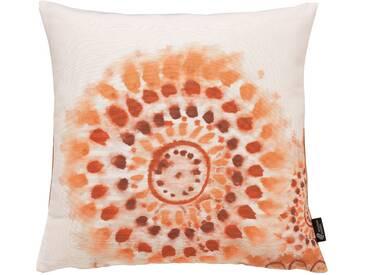 Emotion Textiles Kissenbezug »Batikblume«, braun