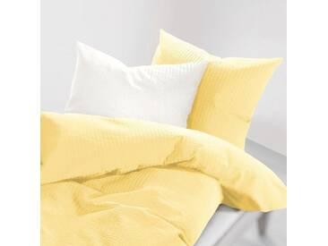Schlafgut Bettwäsche »Lenny«, 155x220 cm, Hpflegeleicht, gelb, aus 100% Baumwolle