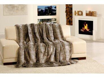 Gözze Wohndecke »Kodiakbär Felloptik«, 150x200 cm, grau