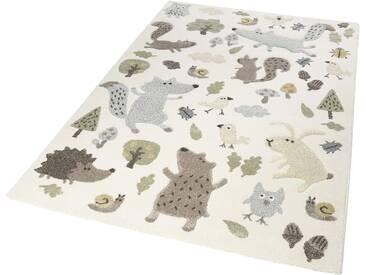 Sigikid Kinderteppich »Forest«, 133x200 cm, 13 mm Gesamthöhe, beige