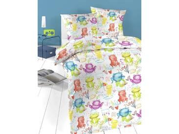 Schlafgut Kinderbettwäsche »Froschi«, 1x 100x135 cm, Hpflegeleicht, bunt, aus 100% Baumwolle