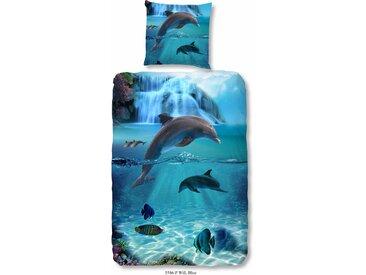 Good Morning Kinderbettwäsche »Flipper«, 80x80 cm, aus 100% Baumwolle, pflegeleicht, trocknergeeignet, bunt