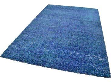Theko® Hochflor-Teppich »Color Shaggy 521«, 57x90 cm, 35 mm Gesamthöhe, blau