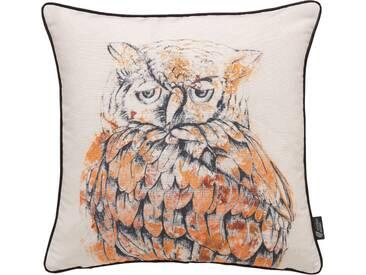 Emotion Textiles Kissenbezug »Eule«, orange