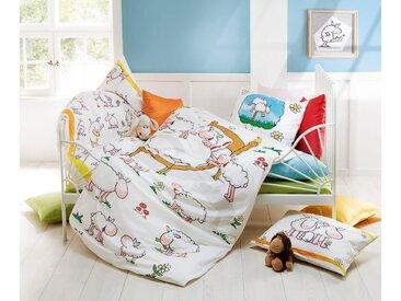Fleuresse Kinderbettwäsche »Kids Schäfchen«, 40x60 cm, weiß
