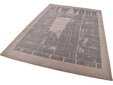 Tom Tailor Teppich »Happy New York«, 133x180 cm, 12 mm Gesamthöhe, braun
